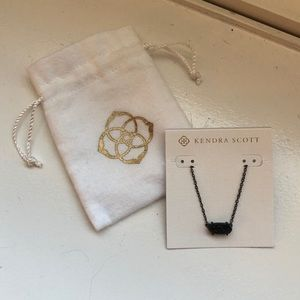 Kendra Scott Jewelry - Kendra Scott Ever Gunmetal Pendant In Black Drusy